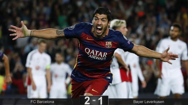 Suarez en la Champions League ante La Juventus