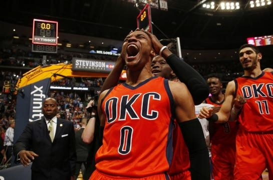 Thunder: Westbrook's clutch shot lifts Thunder on historic night ... - newsok.com
