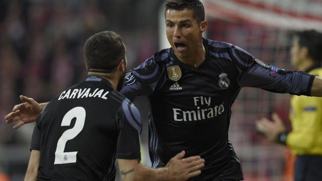 Carvajal y Cristiano fueron las figuras merengues del partido. Eurosport.com.
