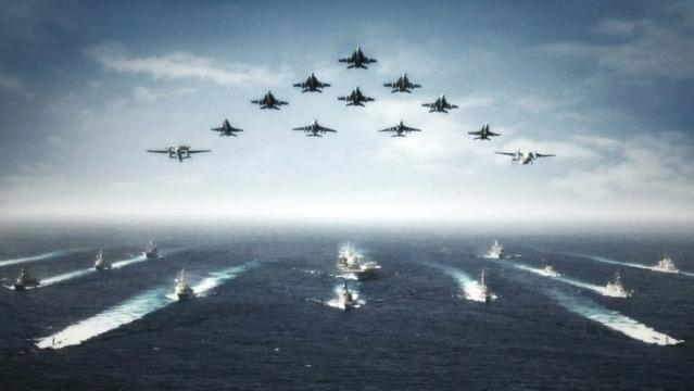 The armada heading to the Korean Peninsula on President Trumps orders.