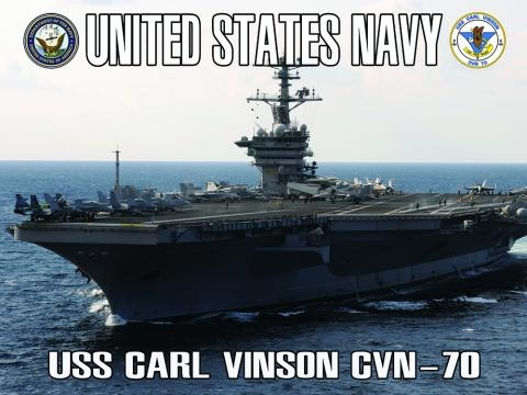 Navy Aircraft Carrier Poster USS Carl Vinson (ACC4) | usa military ... - usamilitaryposters.com