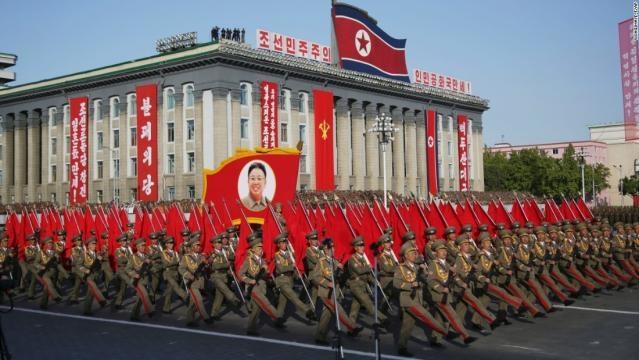 North Korea military celebrates founder Kim Il-Sung. / Photo by cnn.com via Blasting News library