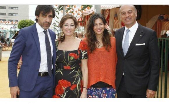 Ana Rosa Quintana en la feria de Sevilla