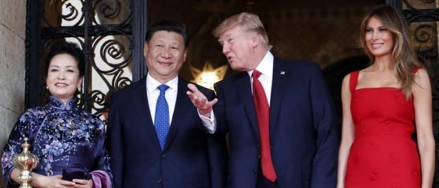 Il leader cinese Xi Jinping con Donald Trump in occasione della recente visita negli USA