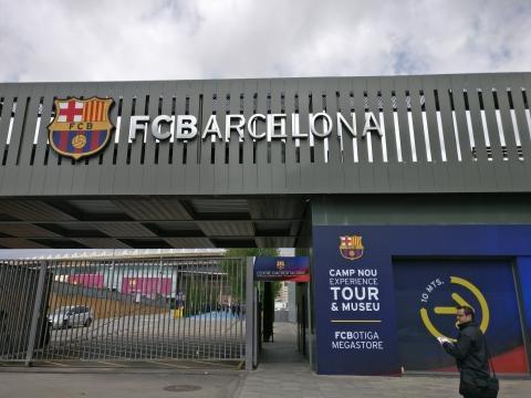 L'ingresso della tribuna autorità del Camp Nou