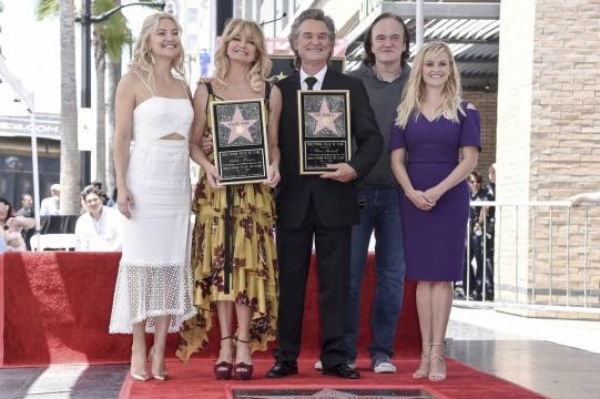 Actors Goldie Hawn, Kurt Russell get stars on Hollywood Walk of ... - reviewjournal.com