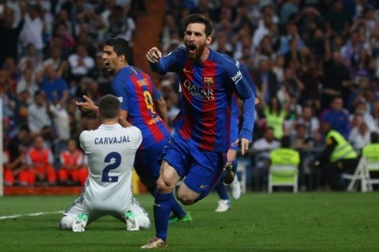 Messi après son but contre le Real lors du classico