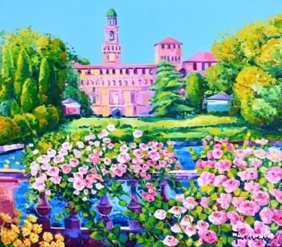 Athos Faccincani-Profumo di rose intorno al Castello Sforzesco
