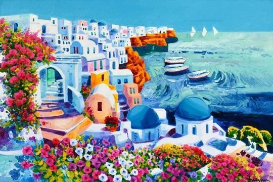 Athos Faccincani-Santorini, guardando un sogno di luce e mare