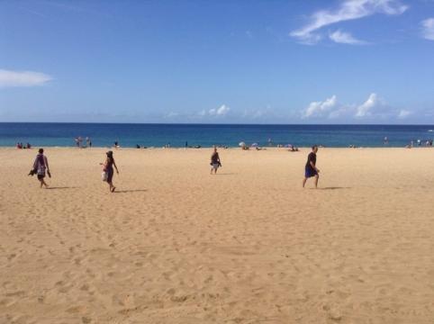 A beautiful sunny day at Waimea Bay