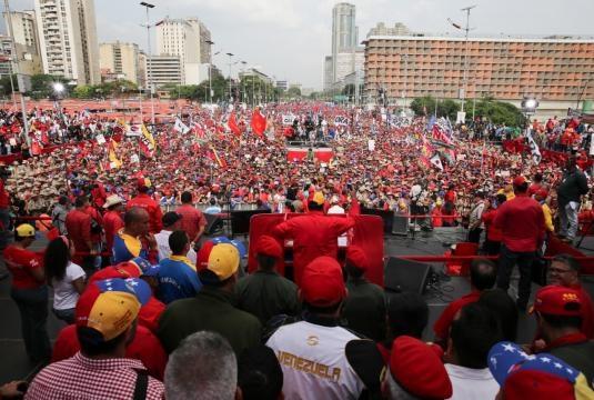 Marcha organizada por el Partido Socialista Unido de Venezuela en apoyo a Nicolás Maduro