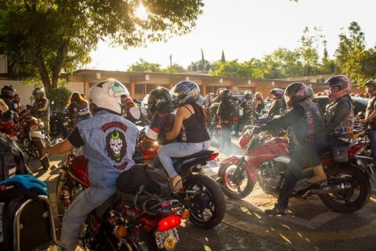 motoclubs en el aniversario de bikers unidos