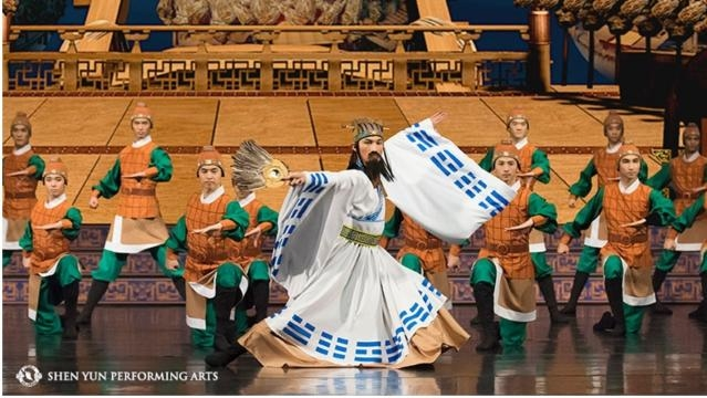 """A famous episode from 'The Three Kingdoms': """"Capturing Arrows with Boats of Straw."""" Photo: Courtesy of Shen Yun Performing Arts, used with permission."""