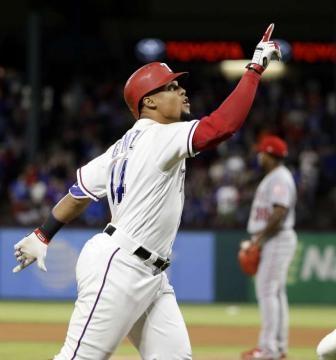 Carlos Gómez tuvo el ciclo con los Rangers, previamente en la franquicia lo hicieron Choo y Beltré. Houston Chronicle.com.