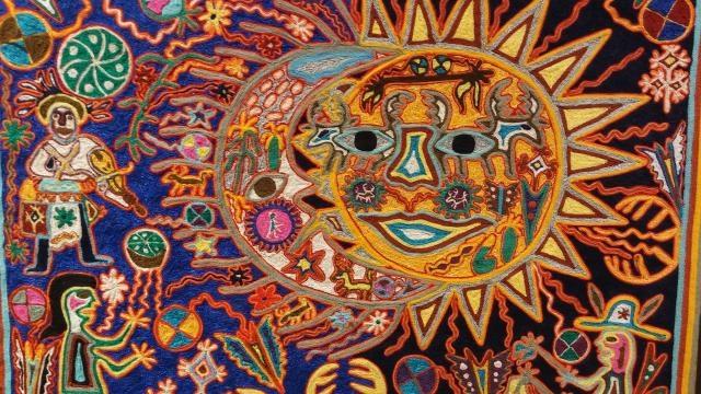 Ejemplo de un trabajo artesanal donde se observa el universo de la cactácea.