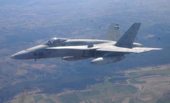 La fineza de lineas del F-18 es más que patente.
