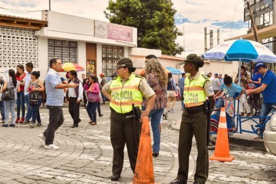 Inmenso despliegue policial y militar en las elecciones ecuatorianas.