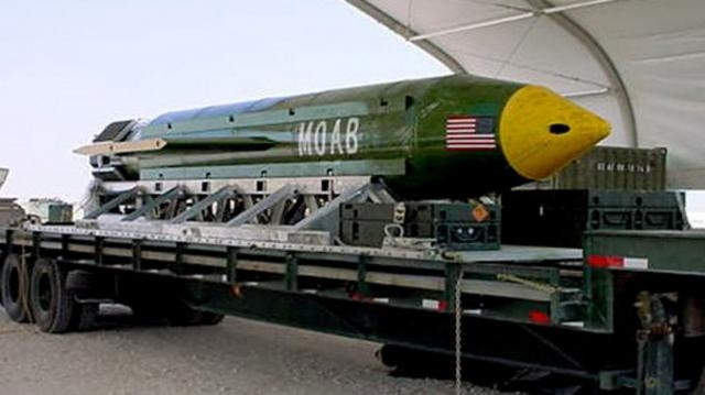 Another view of a MOAB reportedly used on ISIS-K affiliate / Photo by sky.com via Blasting News library