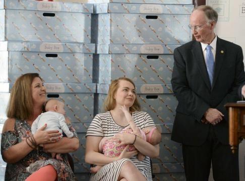 Alabama giving away 60K 'baby boxes' to new parents. Photo courtesy of Tuscaloosa News - tuscaloosanews.com