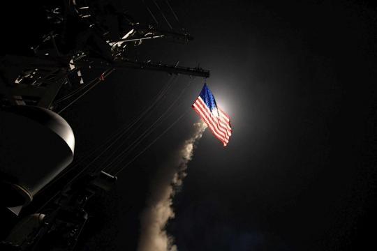 Le primissime immagini del raid missilistico.