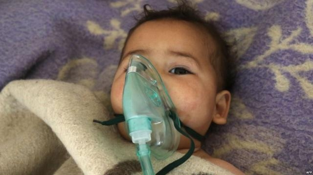 Syrian child, victim of Syrian chemical attack / Photo by rferl.org via Blasting News library
