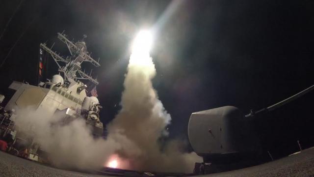 U.S. Navy Destroyers Launch Strikes on Syria | Navy Live / Photo by dodlive.mil via Blasting News library