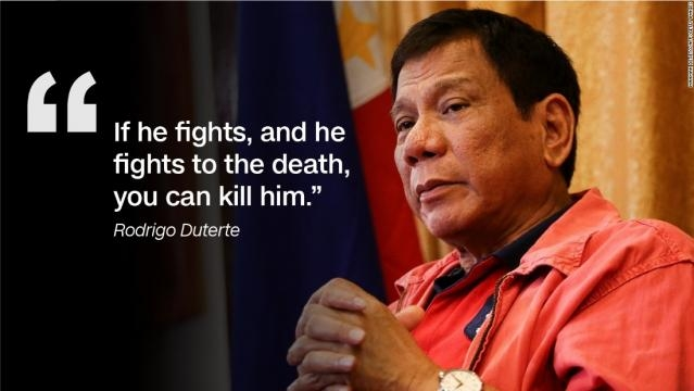 President Duterte's stand when it comes to drug dealers and associates.