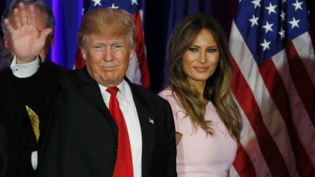 Donald Trump's and Wife Melania/ photo via ABC News