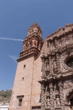 Fragmento de la famosa y muy antigua fachada de la capital zacatecana.