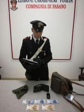 Arresto per scippo carabinieri di Fasano