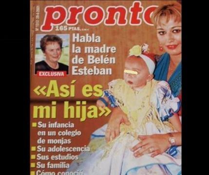 Belén y su hija en la revista Pronto.