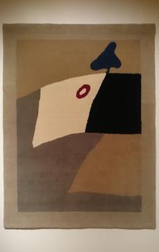 Círculo rojo. 1930. Tapiz. Colec. Fondation Arp, France.