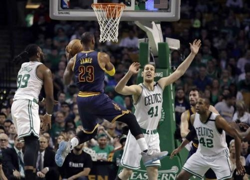 LeBron, Love help Cavs rout Celtics 117-104 in Game 1 ... - stamfordadvocate.com