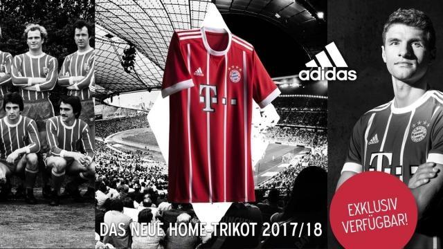 Nueva camiseta del Bayern Munich de cara a 2017/1018. Foto: Twitter: FCBayernMünchen