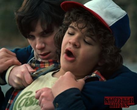 Peyton plays the role of a bully named Troy on 'Stranger Things'. / Photo via Wendy Shepherd PR, courtesy of Netflix. Used with permission.