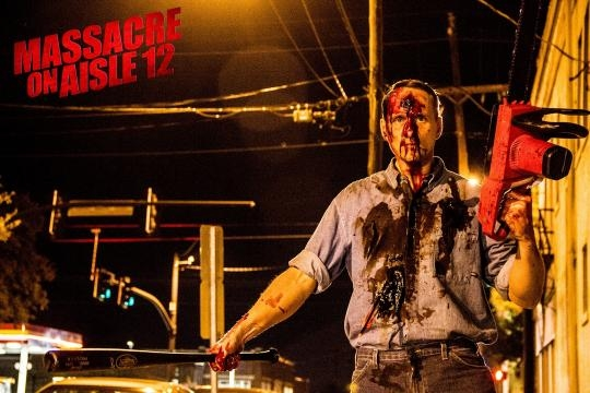 'Massacre on Aisle 12' is a movie that Jim created. / Photo via Jim Klock and Wendy Shepherd PR, used with permission.
