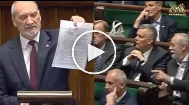 Antoni Macierewicz w Sejmie (źródło: youtube.com)