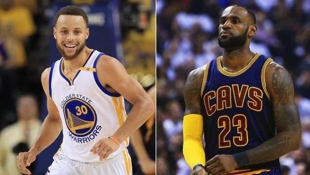 Stephen Curry of the Golden State Warriors & LeBron James of the Cleveland Cavaliers (Via SportsOnEarth.com)