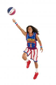 Ace Jackson is only the thirteenth woman to play for the Harlem Globetrotters in ninety-one years! / Photo via Ace Jackson, used with permission.