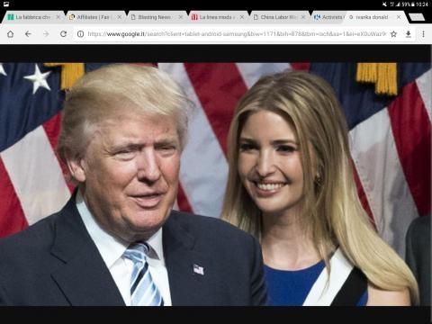 Ivanka e suo padre, il presidente degli Stati Uniti Donald Trump, durante la campagna elettorale.