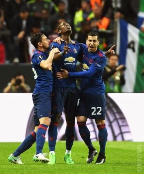 Pogba after scoring the first goal- facebook manchester united page