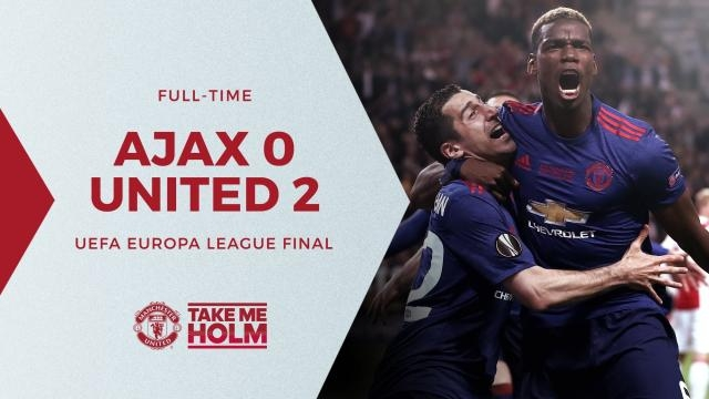 Results from the Europa Final 2-0 - facebook manchester united page