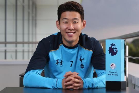 Son claims EA SPORTS Player of the Month prize - premierleague.com