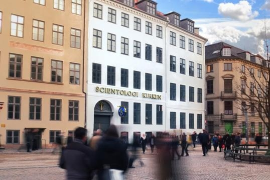 Ideal Church of Scientology in Denmark, standing on Europe's busiests walking street.