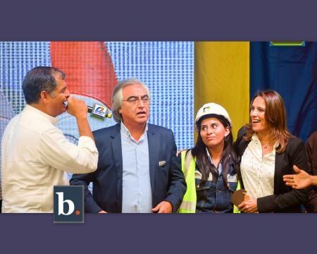 Rafael Correa inaugura obras viales en Pifo Ecuador