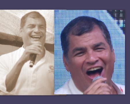 Rafael Correa siempre fue expresivo en su mandato