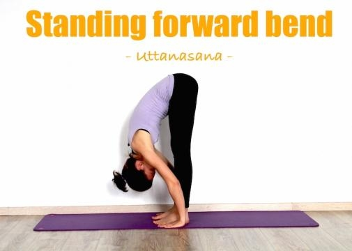forward bend (Padahastasana) :7th yoga pose to reduce belly fat
