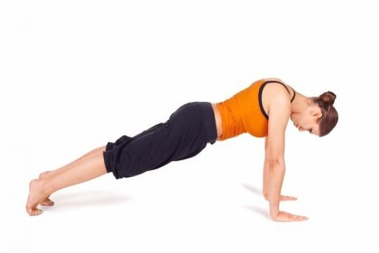 Plank pose (Kumbhakasan):4th yoga poses to reduce belly fat