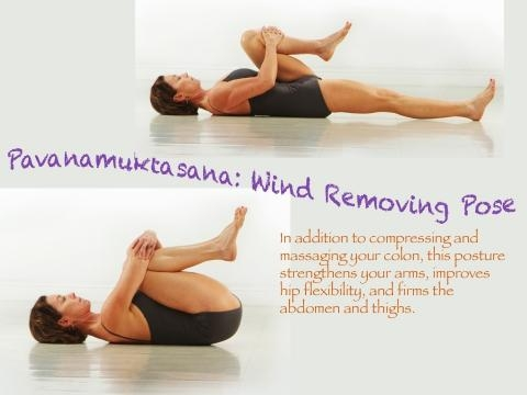 Wind Removing Pose (Pavanamuktasana):5th yoga pose to reduce belly fat