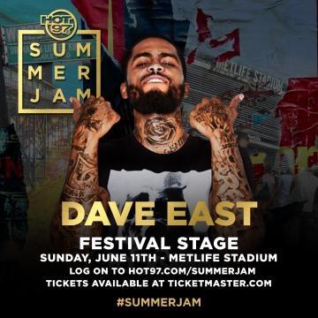 Festival stage performer Dave East via Hot 97